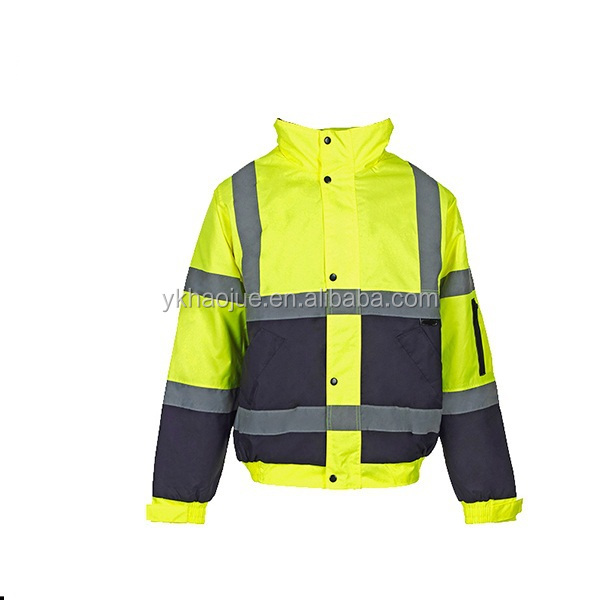 High visibility reflective traffic police motorcycle jacket