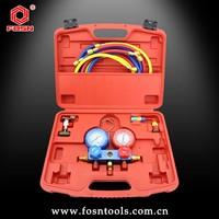 manifold gauge R134a 134a R22 R12 R410a for auto air conditioning manifold gauge/Refrigerant Manifold Gauge set/refrigerant tool