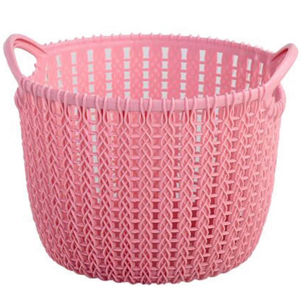 ZhaoLiRuShop Laundry Baskets Laundry Storage Laundry basket storage box drying basket Imitation rattan plastic laundry basket, bathroom kitchen cosmetics storage basket, toy sundries storage basket