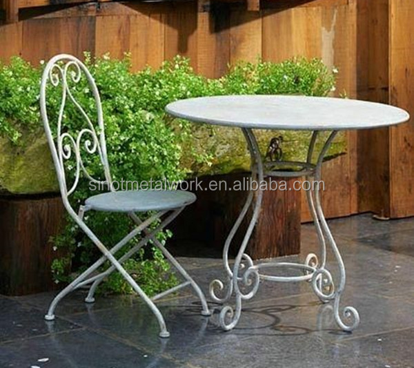 2016 garden and home furniture metal iron coffee and tea table and chair for sale