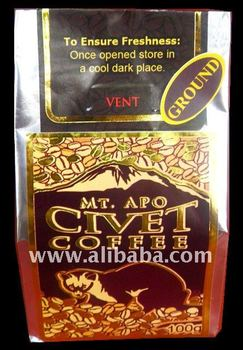 Mt. Apo Civet Coffee - Buy Civet Coffee Product on Alibaba.com