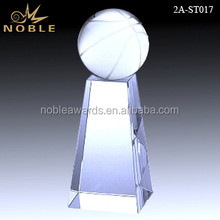 Hand Make Sports Game Crystal Basketball Trophy