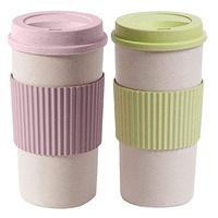 Feistel Factory Customized custom design 16oz reusable bamboo coffee cup with silicone lid