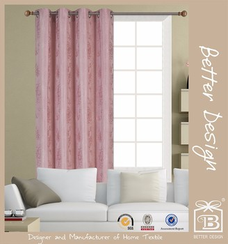 Beautiful Peach Rose Style Blackout Living Room Curtains With Embroidery Buy Living Room