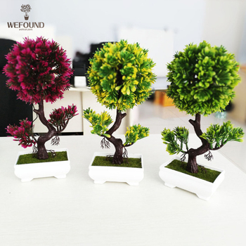 Mini Artificial Plant Bonsai Decoration Home & Office Plants - Buy ...