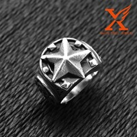 In Stock Wholesale Titanium Rings Stainless Steel 316L Split Eastern Star Rings