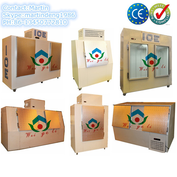 Cold wall ice storage freezer bin with CE certificate