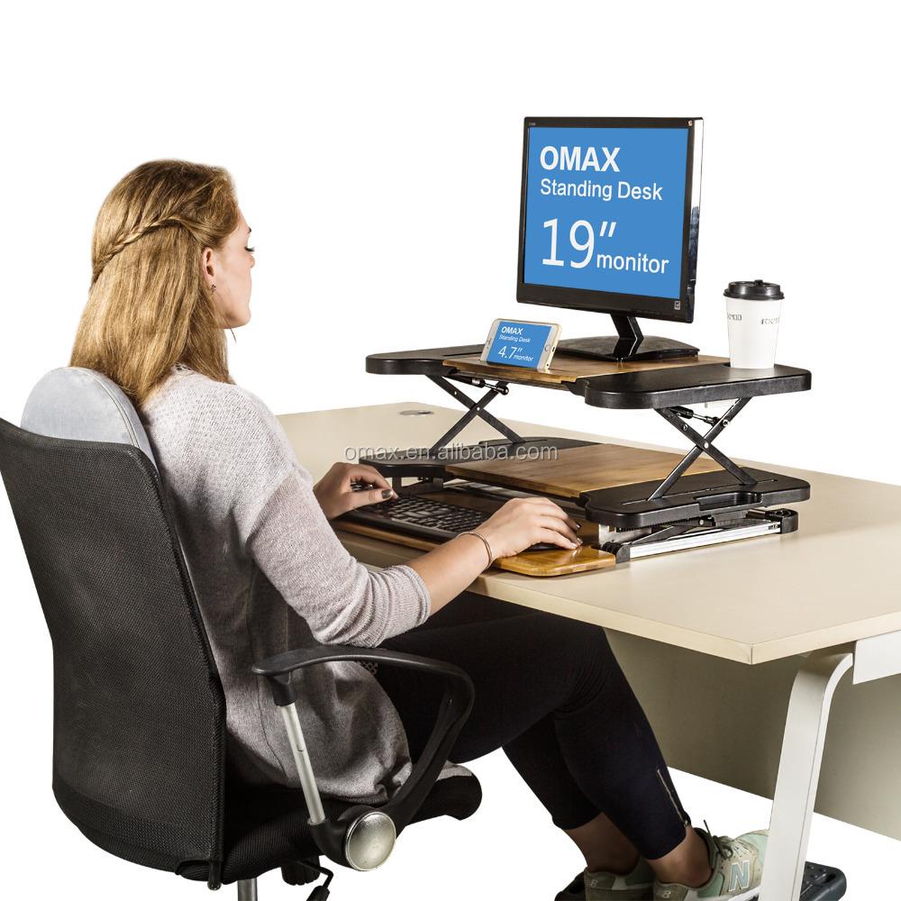 Lieblich Folding Einstellbare Große Laptop Computer Tisch Steh Schreibtisch Für  Monitor Und Imac