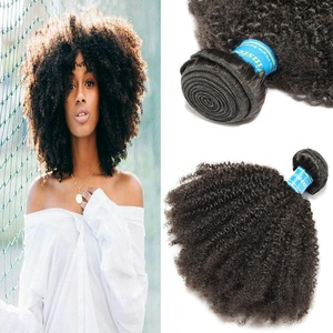 Mongolian Afro Kinky Curly Hair Bundles 100% Virgin Human Hair Weave Natural Color Hair Extensions