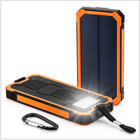 Factory price Portable Shockproof 10000mAh Waterproof Solar Charger Battery for Cell Phone MP3