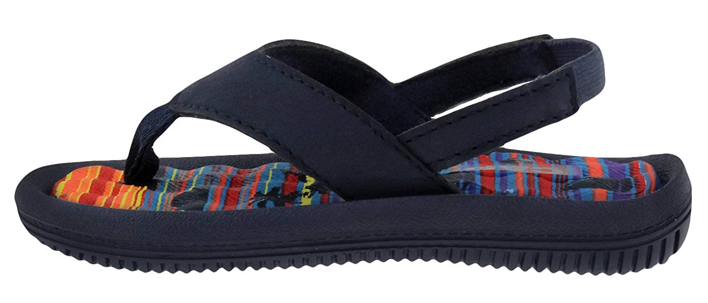 Capelli New York Faux Leather Thong Sunset Print Toddler Boys Flip Flop