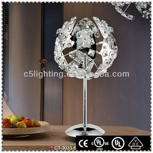 Art Iron Ball Crystal Bead Bali Lamp Table