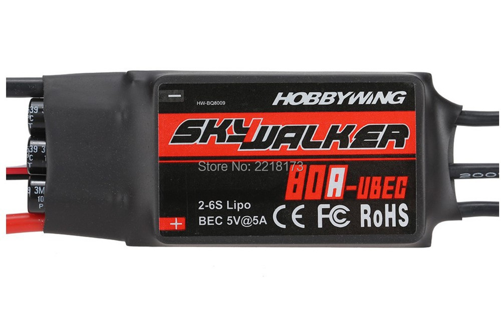 100 Original Hobbywing Skywalker 80A Brushless ESC Speed Controller With UBEC for rc helicopter
