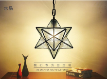 wholesale star shape indoor concrete copper pendant lamp