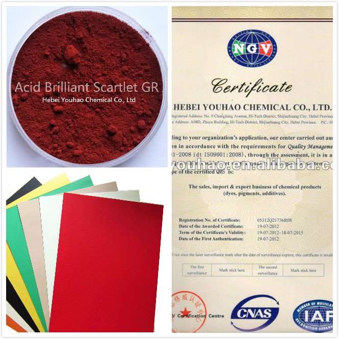 YOUHAO Paper Dye/Acid brilliant scarlet GR/Acid Red 73