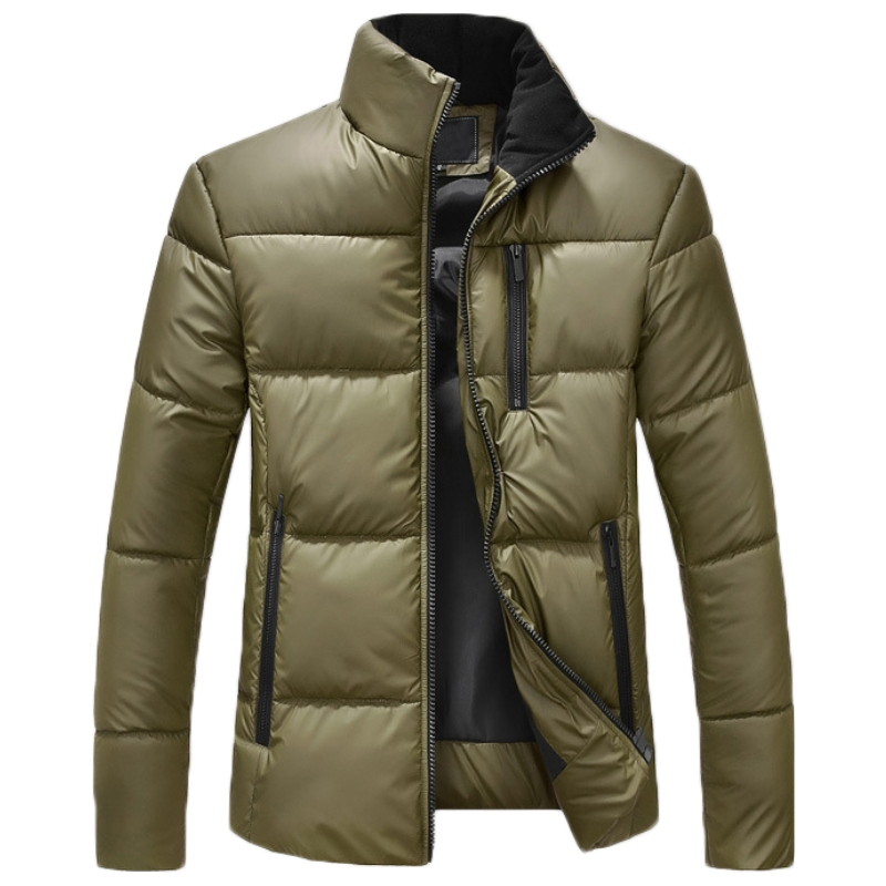 Buy Solid winter jacket collar fashion mens winter parka with fur ...