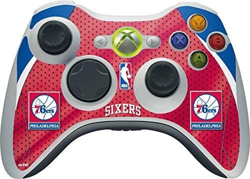 NBA Philadelphia 76ers Xbox 360 Wireless Controller Skin - Philadelphia 76ers Vinyl Decal Skin For Your Xbox 360 Wireless Controller