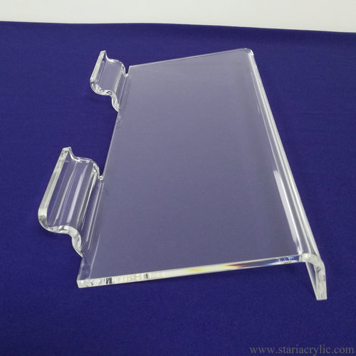 Clear Slatwall Shoe Shelf Plexiglass Lucite Shoe Display Slatwall Shelf Holder