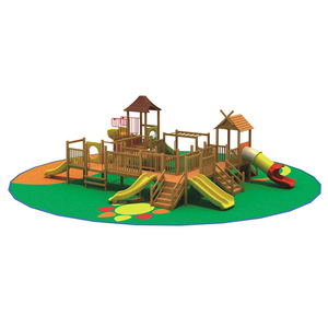 New Arrived Boat Children Kids Wooden Pirate Ship Play Set Complete Park Forts Slides Swings Lumber Outdoor Playground Equipment