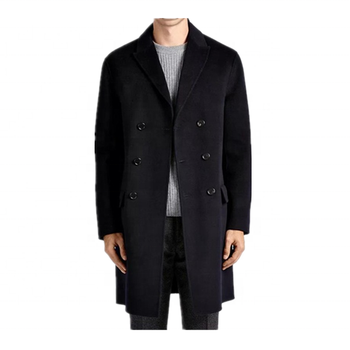 Best Selling Factory Price Luxury Classic Navy Blue Cashmere Coat Men Cashmere Coat For Men