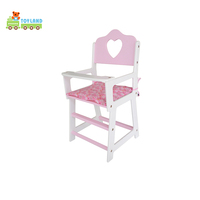 Best Selling Baby Promotion Gift High Foot Doll Chair With Accessories