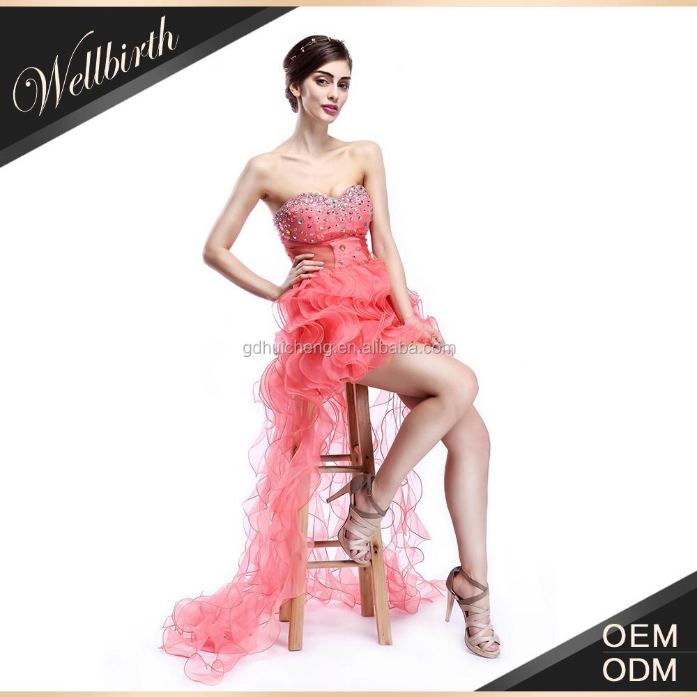Encuentre el mejor fabricante de vestido corto con cola corta y ...