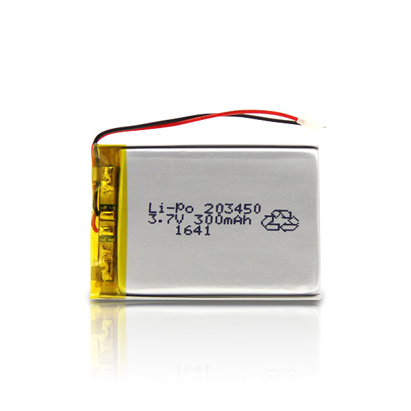 OEM/ODM 3.7V 300mAh 203450 Rechargeable LiPo Battery lithium polymer battery for consumer electronics