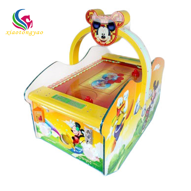 Best selling classic sport muntautomaat leuke mickey mouse cartoon air hockey tafel arcade game air hockey tafel