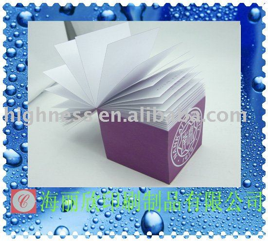 2012 Newly Sticky Notepad For Company Promotion
