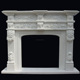Mental Classical White Marble Fireplace with Fancy Carving Sculpture