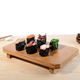 Japanese type wooden sushi plate sushi tray for sale