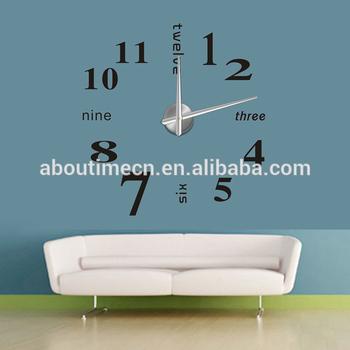 3d Diy Wanduhr Fur Buro Dekoration Wandaufkleber Uhr