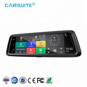 "10"" IPS Touch Screen Video Recorder Android GPS Car Camera DVR Dash Cam with 4G Wifi FM Radio"