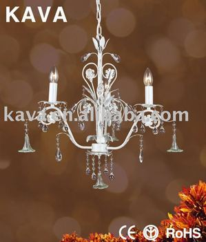 White Glass Drops Indian Hanging Lamps