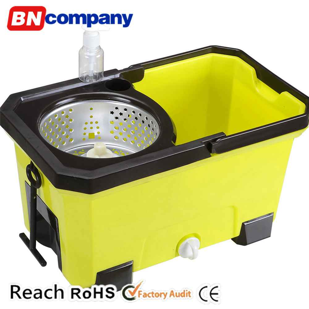 Popular Plastic Double Function Mop Bucket with Wringer Drawer Magic Mop