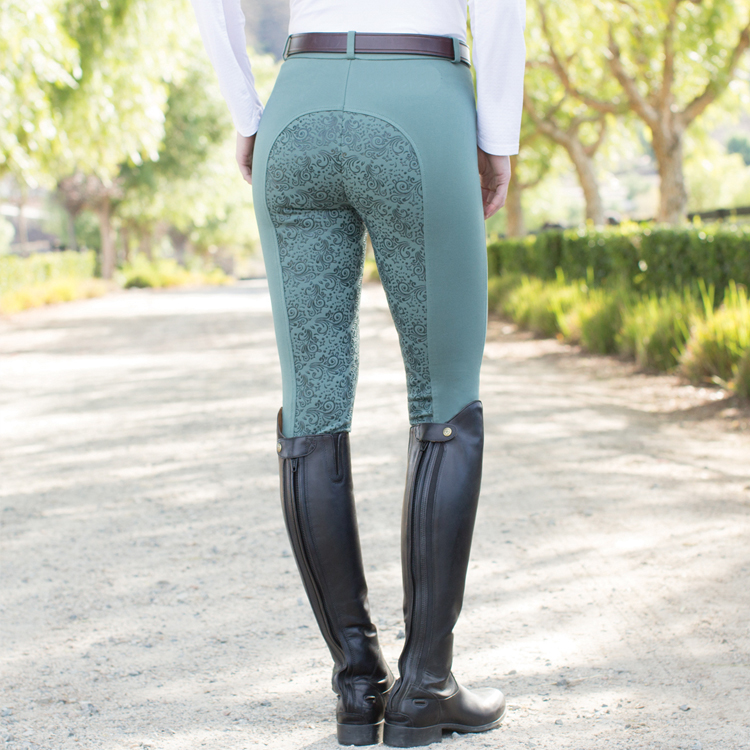 Hot Sell In Europe Women Equestrian Pants Silicone <strong>Horse</strong> Riding Leggings Breeches