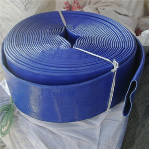 "PVC Lay flat water pump irrigation discharge hose 2"" 50mm x 100m Blue"