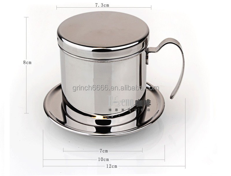 The portable stainless steel filter coffee maker drip coffee pot filter tea coffee filters tools Vietnamese pot Kitchen Tools