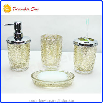 Public quality brand name hotel balfour glass bathroom for Good quality bathroom accessories