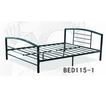 2017 cheap metal frame double bed/double bed for bedroom