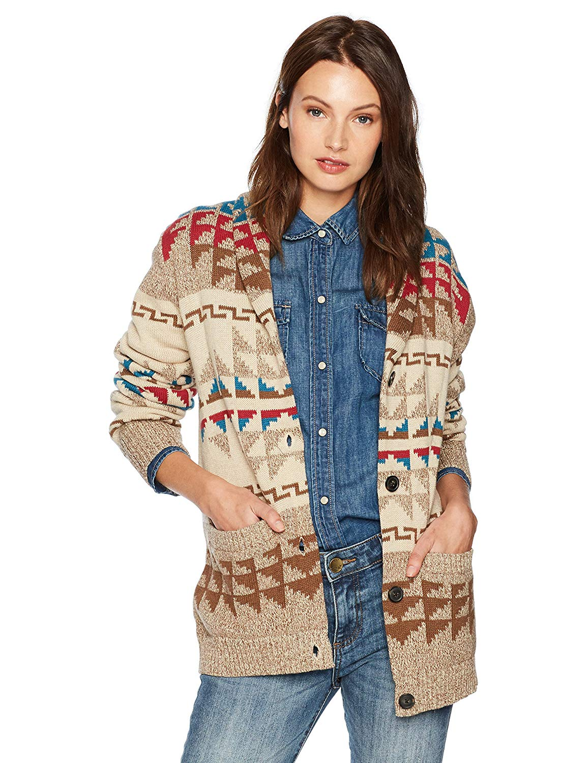 769dde627ee7d5 Get Quotations · Pendleton Women's Iconic Shawl Collar Cardigan Sweater