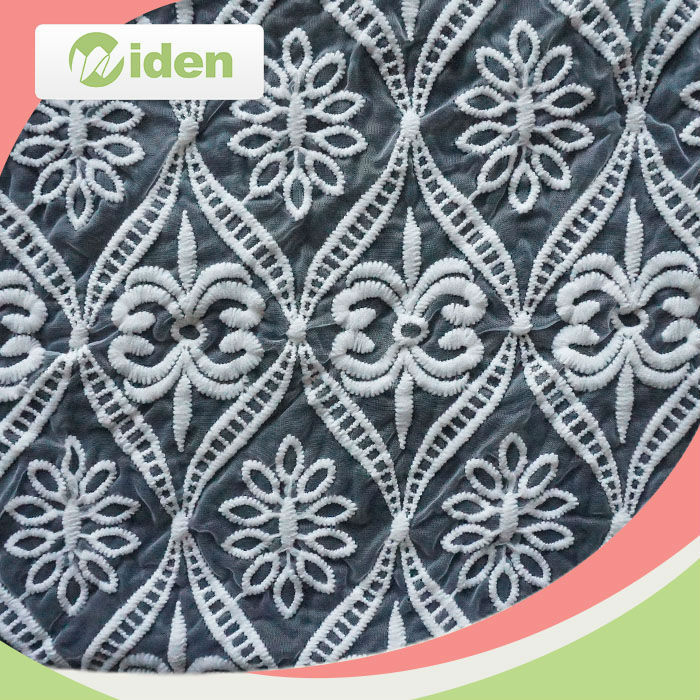 Bulk Lace Fabric Net Embroidery Lace Fabric for Curtains