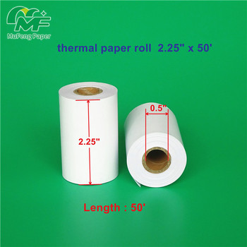 57mm*45mm Thermal Paper for Thermal Printer Roll of 5 rolls shrink wrap