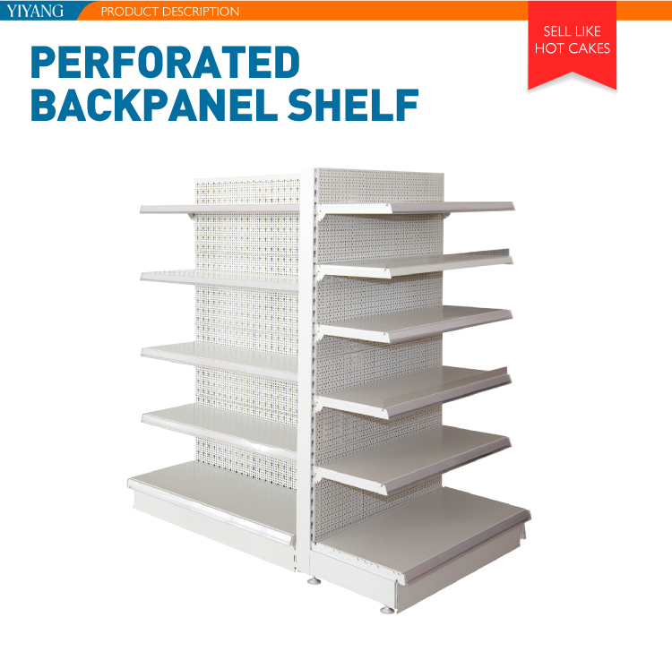Quality assured store shelf metal shelving racks