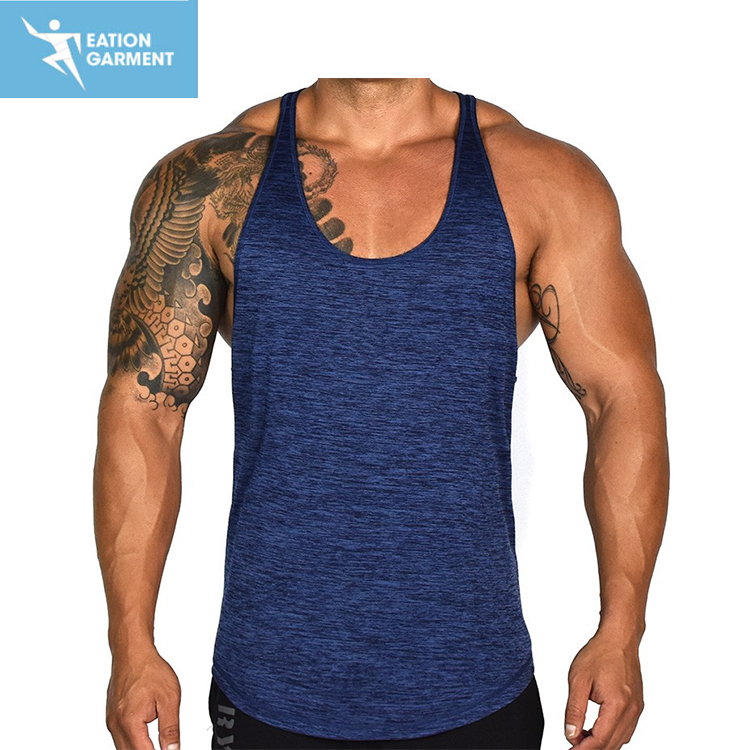 custom men gym wear X-Line tanks breathable nylon /polyester walkout fitness tank top wholesale