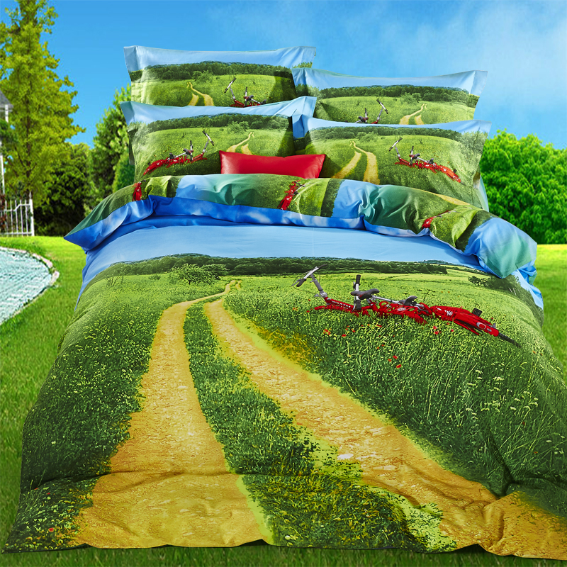 3D High definition printing Bedding set/Bed sheet/Quilt duvet cover/farm