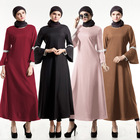 2018 Customized Muslim Clothes Plain Dyed Crepe Islamic Clothing Long Sleeve Abaya