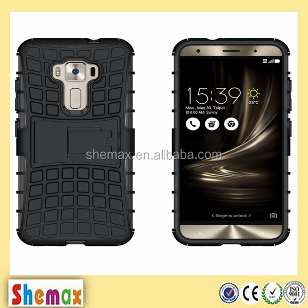 Factory TPU+PC Hybrid kickstand case for asus zenfone 3 ze552kl