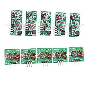 5pcs 433Mhz RF transmitter and receiver kit for Arduino Wireless module Pair DEP
