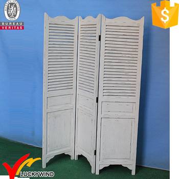 Rustic Shabby Chic Vintage Antique Wood Folding Screen Room Divider